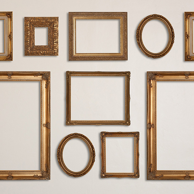 Gold On Cream Gallery Wall Frames